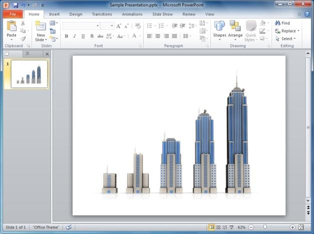 Business Building Bar Growth Clipart