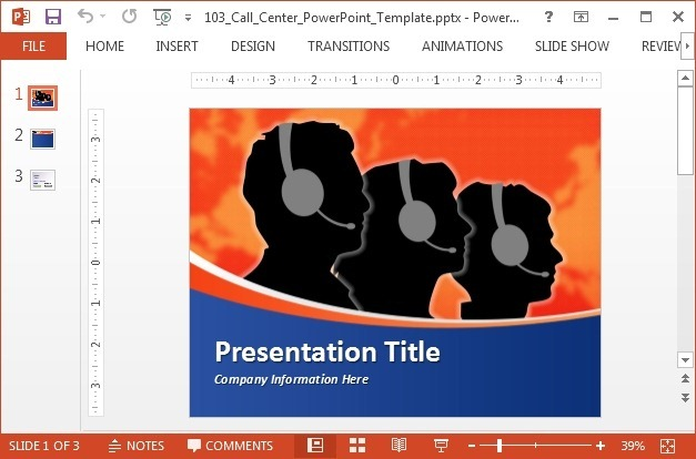Call center PowerPoint template