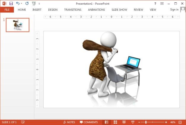 Caveman laptop clipart