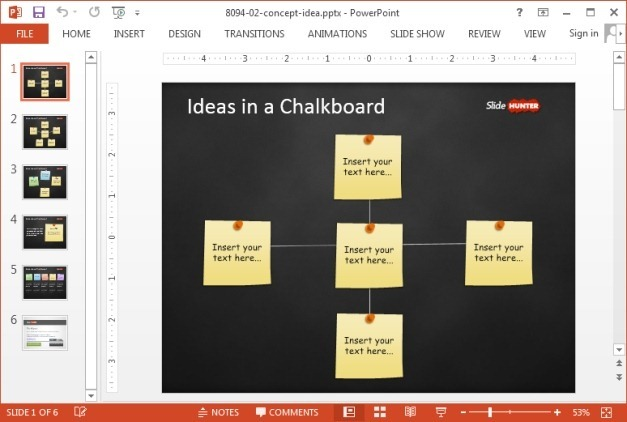 Chalkboard idea PowerPoint template