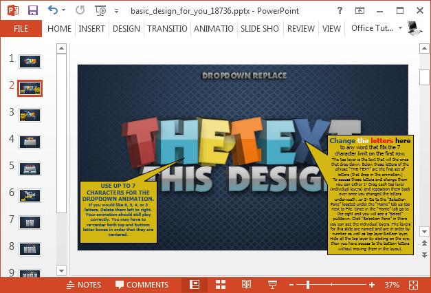 Change 3D text
