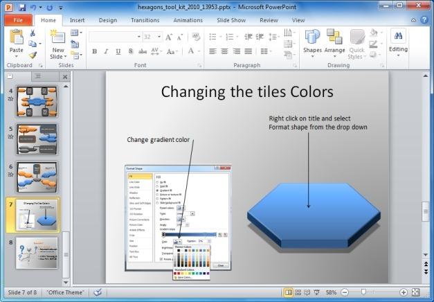 Change Color Of Hexagons