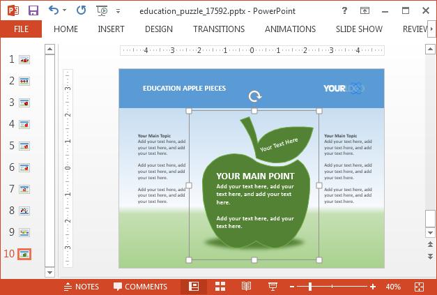 Change color of apple illustrations in sample slides