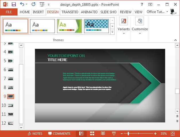 Change colors of flat design slides