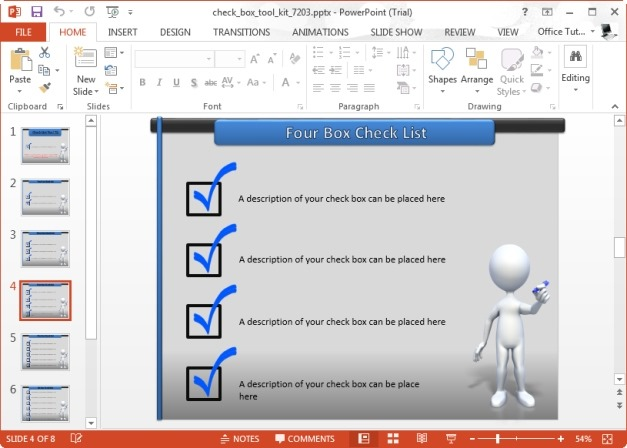 Checkbox Template for PowerPoint