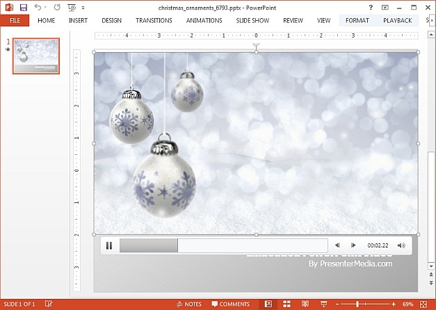 Christmas Ornaments video animation template