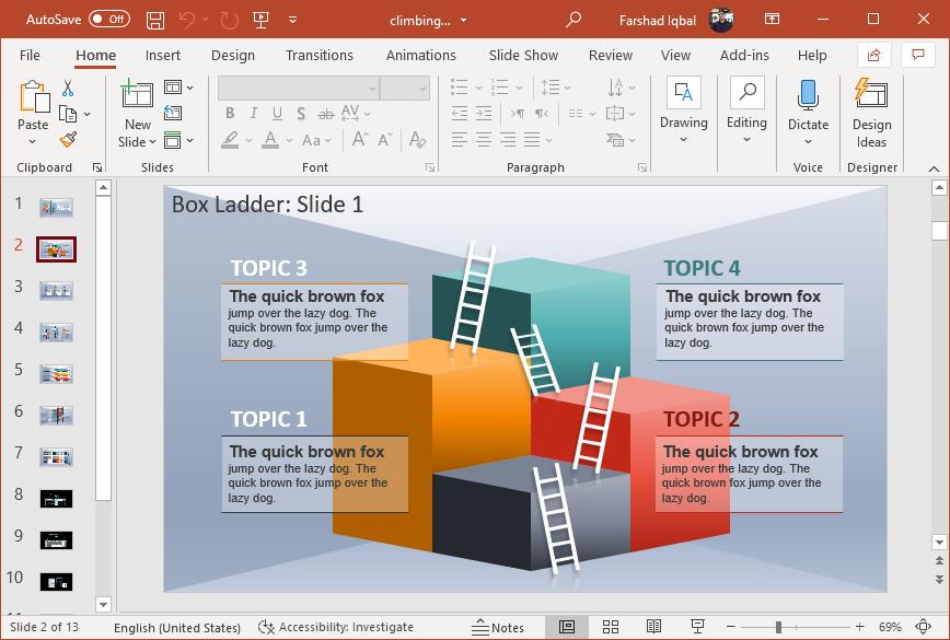 Climbing ladder infographics