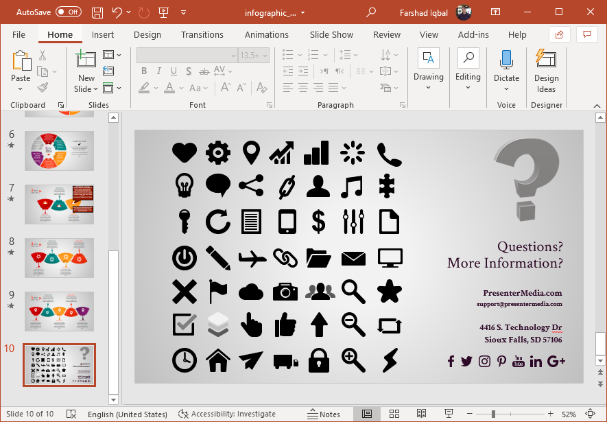 Clipart for business infographics