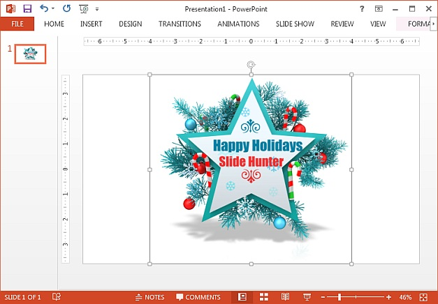 Clipart with custom message for Christmas