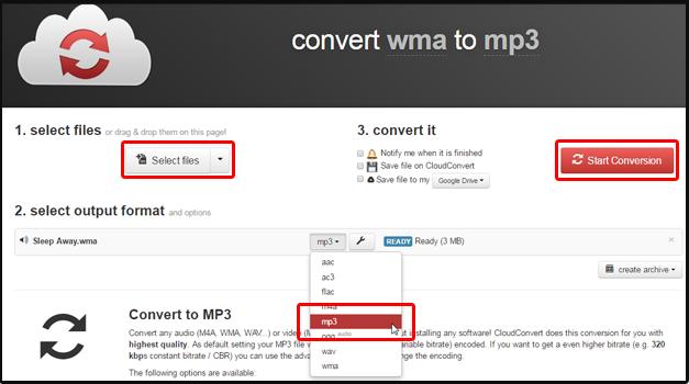 Cloudconvert mp3 converter
