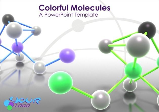 Colorful Molecules PowerPoint Template
