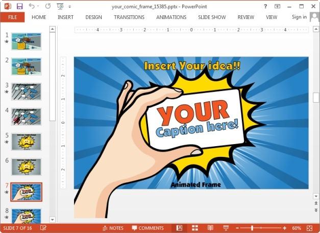 Comic frame slide design