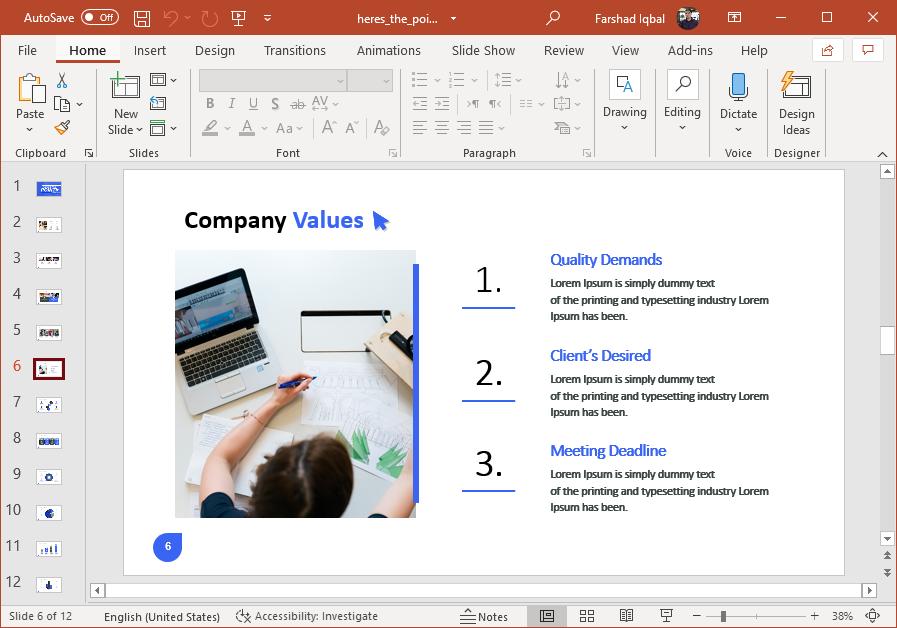 Company values infographic