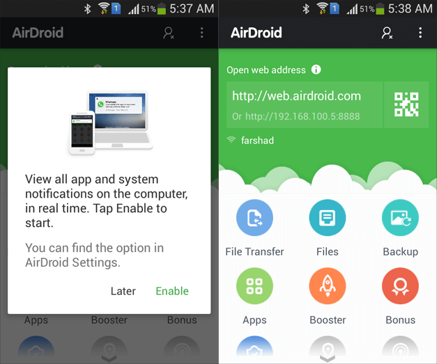 Connect AirDroid