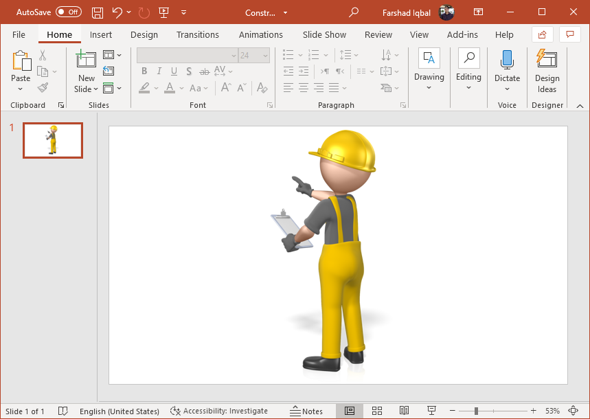 Construction Figure Clipart for PowerPoint