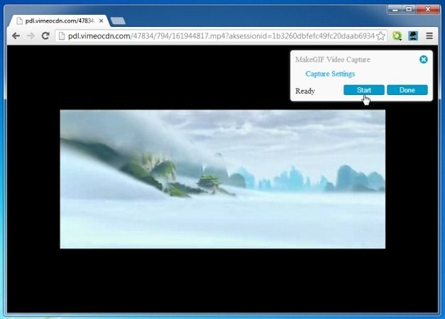 Create GIF Animations When Streaming Videos From YouTube