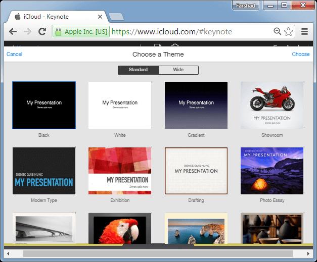 Create Keynote presentation in Windows