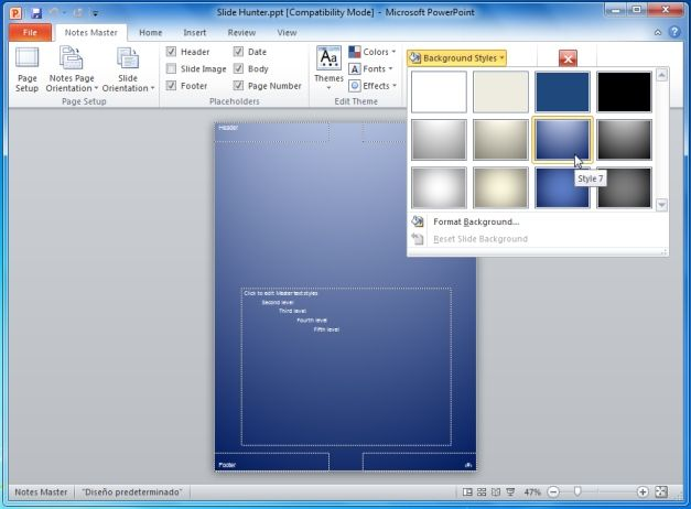 Create PowerPoint Backgrounds