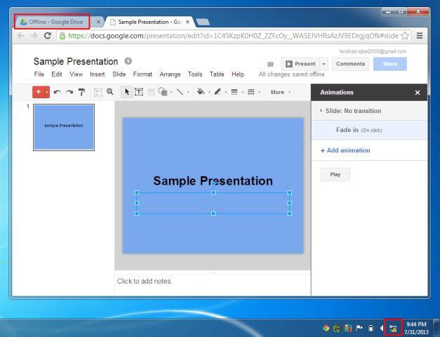 Create Presentation Offline