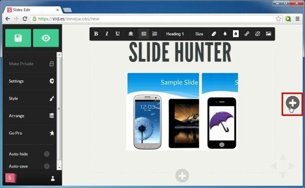 Create Zooming Slides