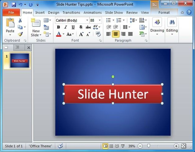 Create banners and logos in PowerPoint