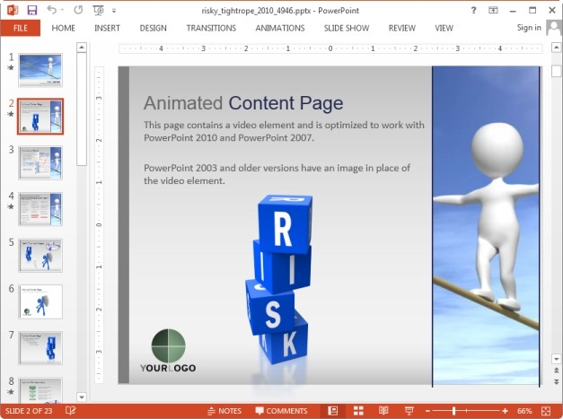 Create presentations and risk assessment plans