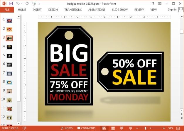 Create sales logo