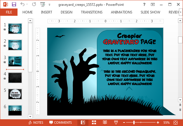 Creepy slide layout