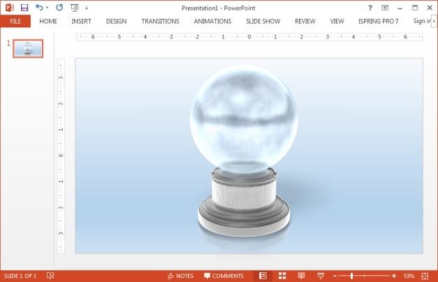 Crystal ball presentation clipart