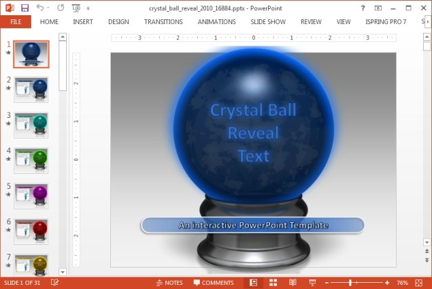 Crystal ball reveal PowerPoint template