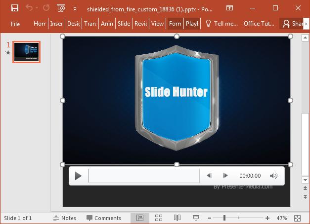 Custom text video background