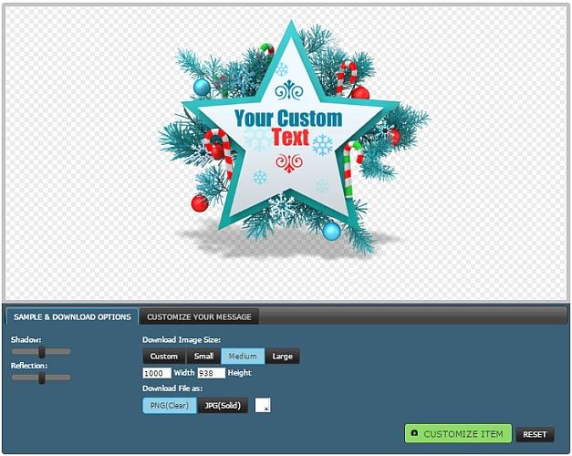 Customizable Christmas clipart