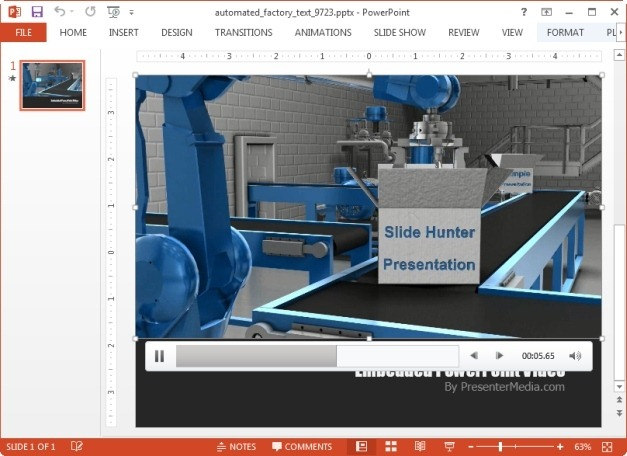 Customize  factory animation