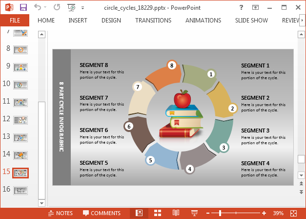 Cycle diagram template for PowerPoint