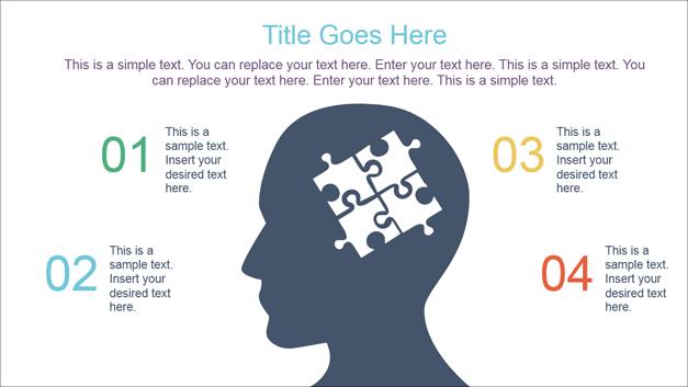 Diagram slide with sample mind map