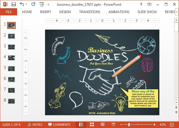 Doodle timeline PowerPoint template