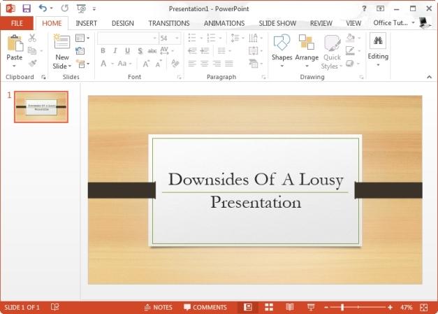 Downsides Of A Lousy Presentation