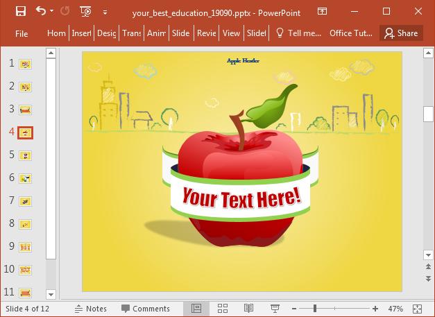 Easily customize sample educational slides