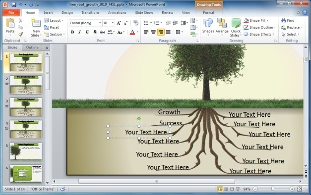 Easy To Edit Tree Template For PowerPoint