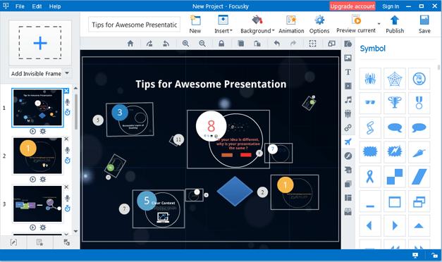 Easy presentation making options