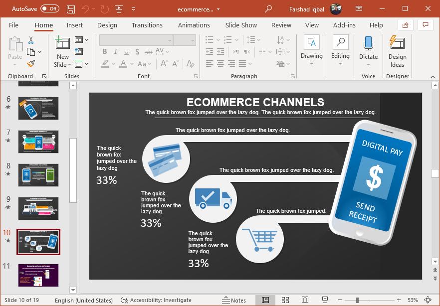 Ecommerce channels slide design