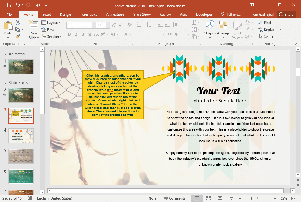Edit Text Placeholders to Make Your Slides