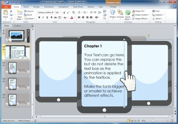 Editable Template for PowerPoint