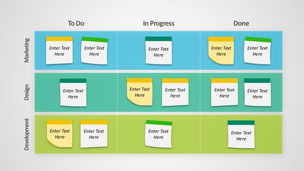 Editable-kanban-board-PowerPoint templates