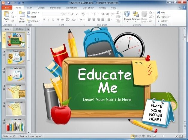 Educate Me PowerPoint Template