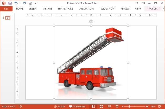 Emergency fire truck clipart
