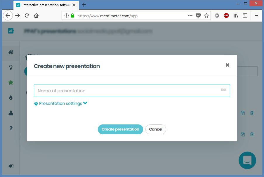 Enter Presentation Name