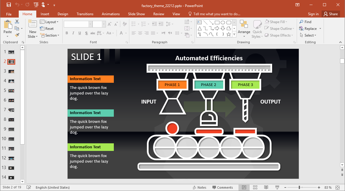 Factory Theme for PowerPoint