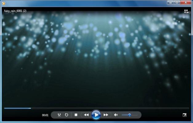Fairy rain animation in blue
