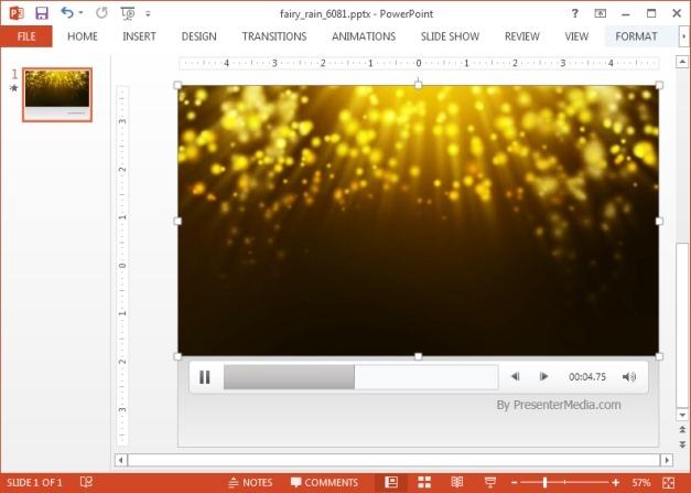 Fairy rain video background template